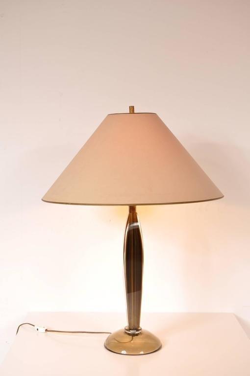 Elegant Murano Glass Table Lamp By Flavio Poli For Seguso, 1960s