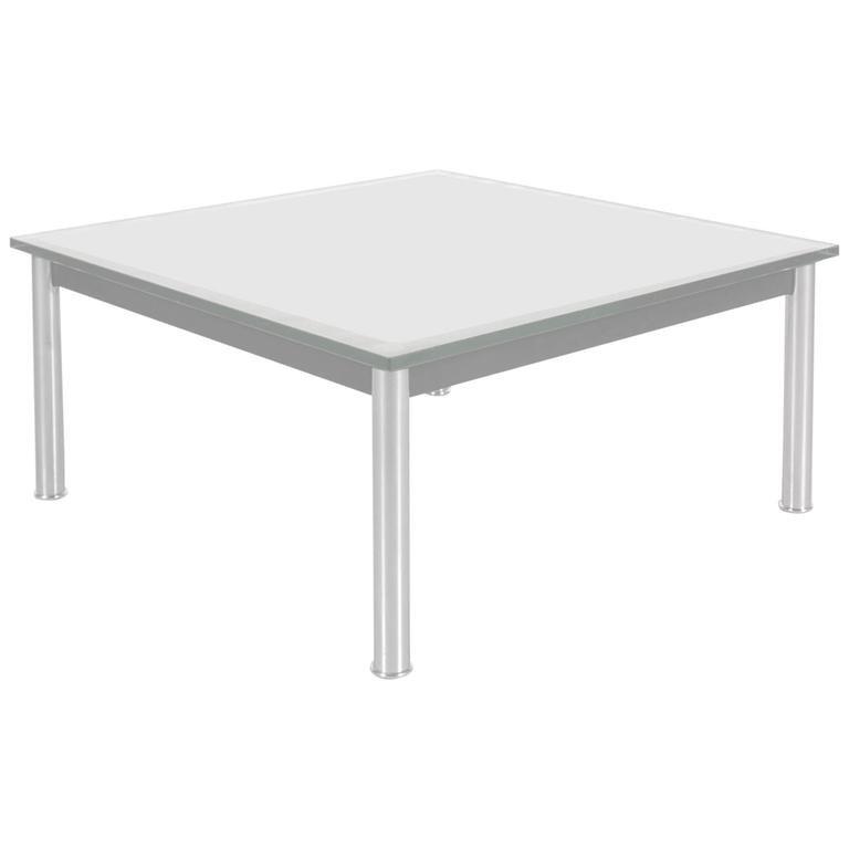 table basse lc10 par le corbusier pour cassina, italie, 1980s en