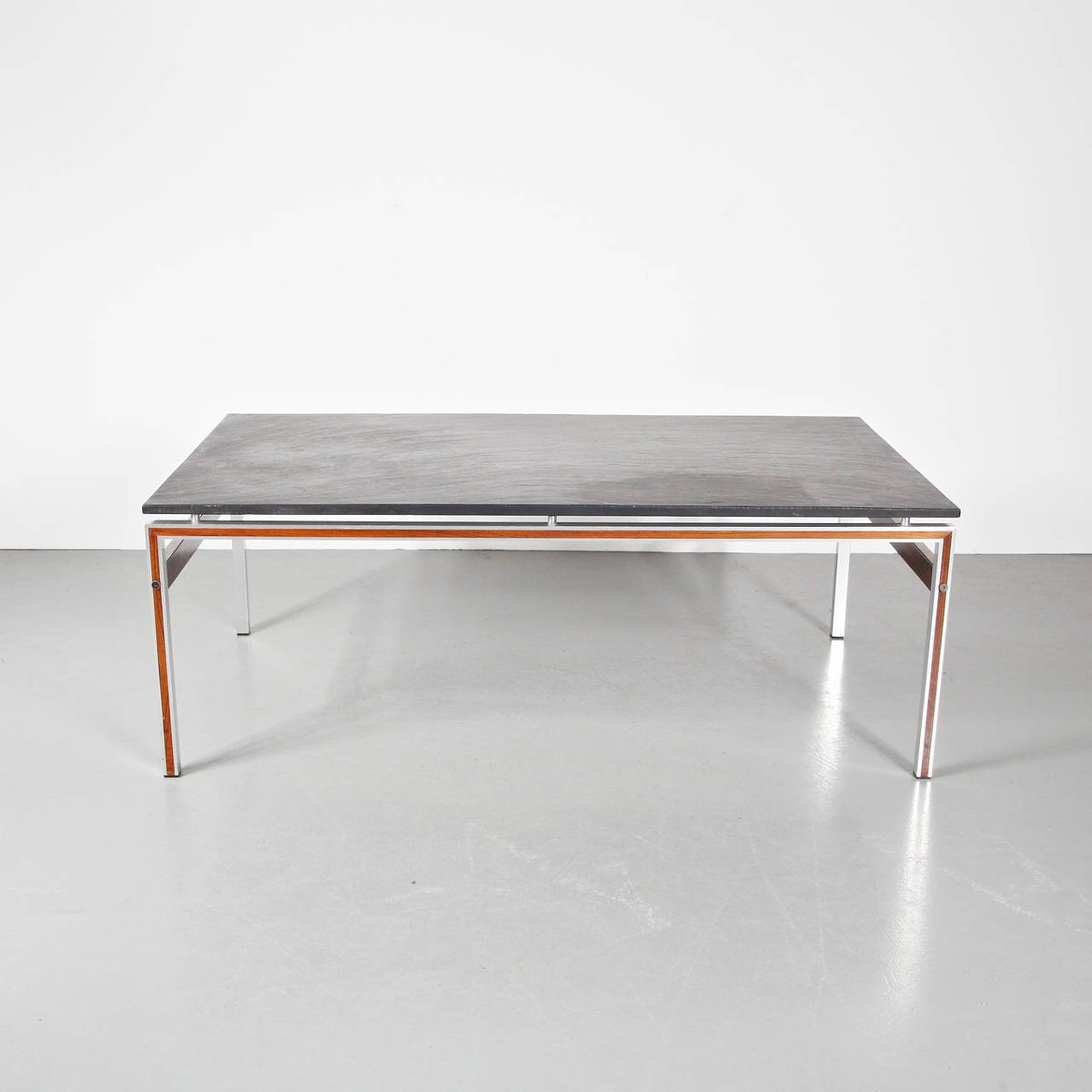 Danish Coffee Table With Slate Stone Top, 1960s