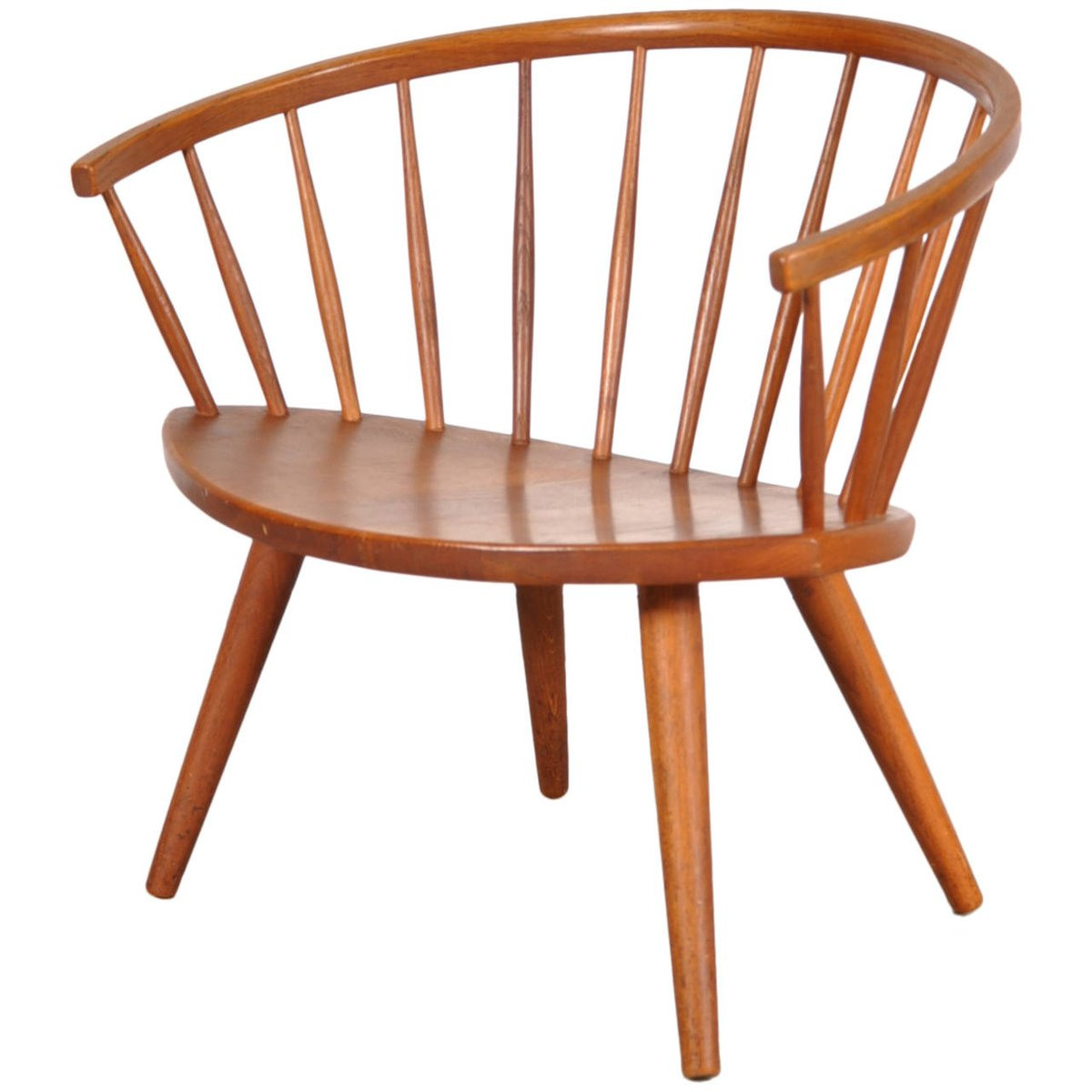 Model Arka Oak Easy Chair by Yngve Ekström for Stolab, 1950s for sale at Pamono