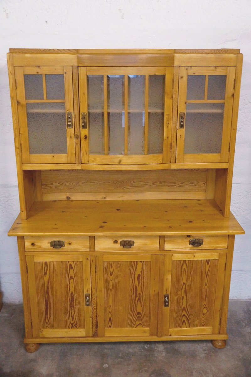 Vintage art deco softwood kitchen buffet for sale at pamono for Küchenbuffet vintage
