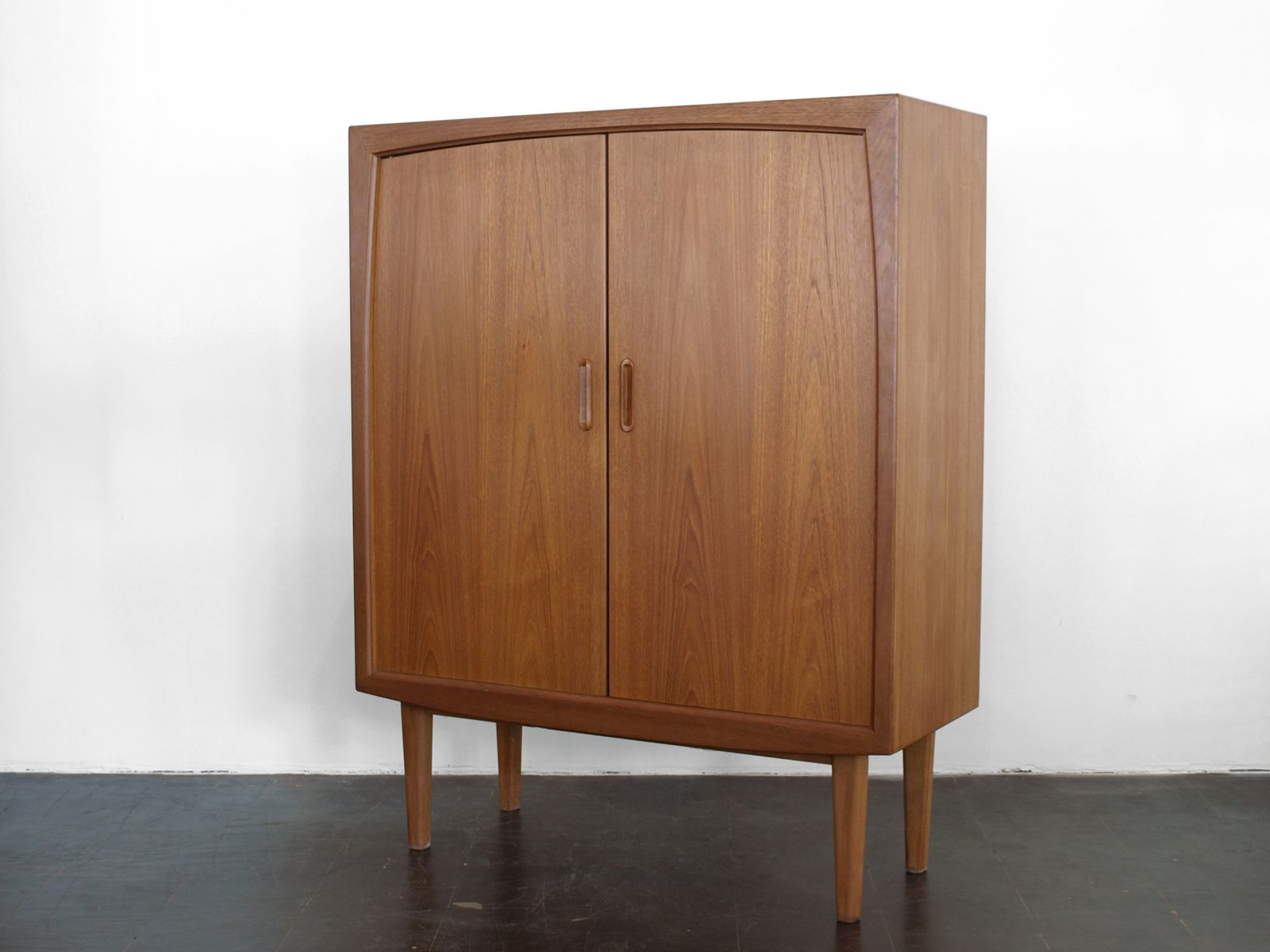 mid century german teak cupboard from bartels m bel 1960s for sale at pamono. Black Bedroom Furniture Sets. Home Design Ideas