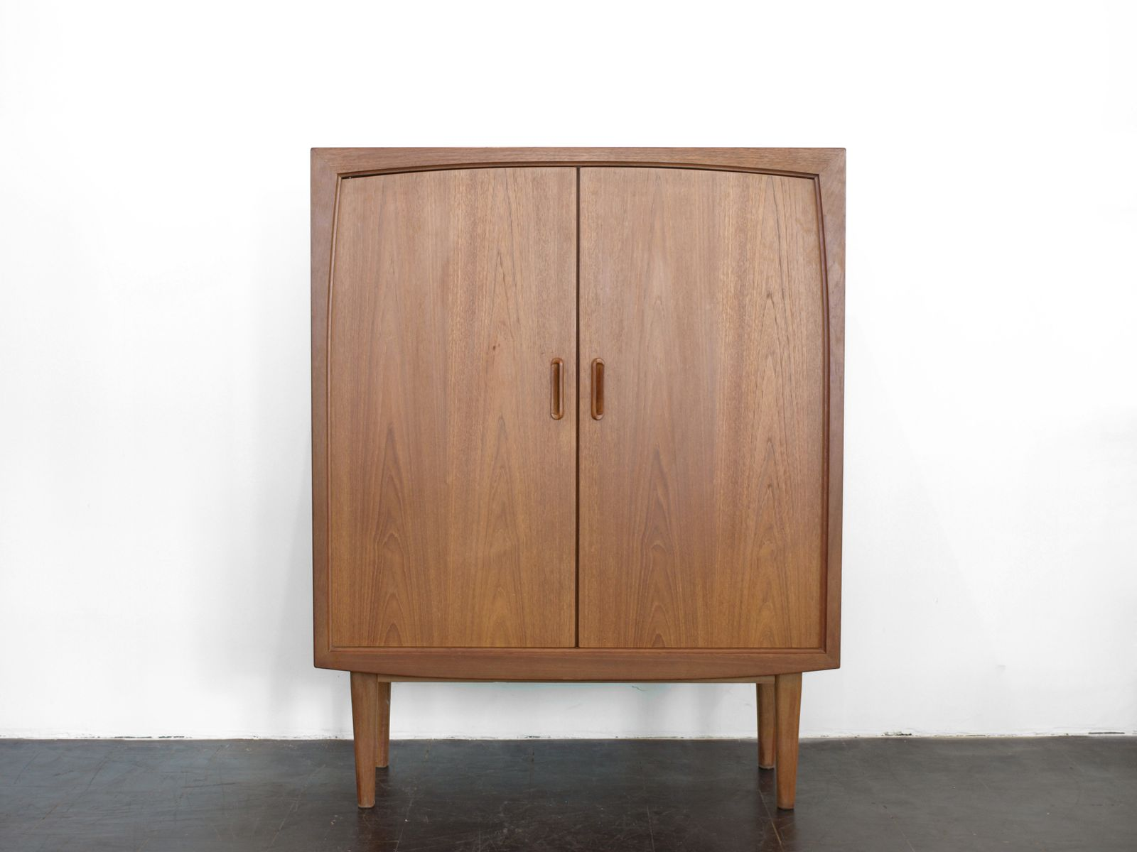 mid century german teak cupboard from bartels m bel 1960s. Black Bedroom Furniture Sets. Home Design Ideas
