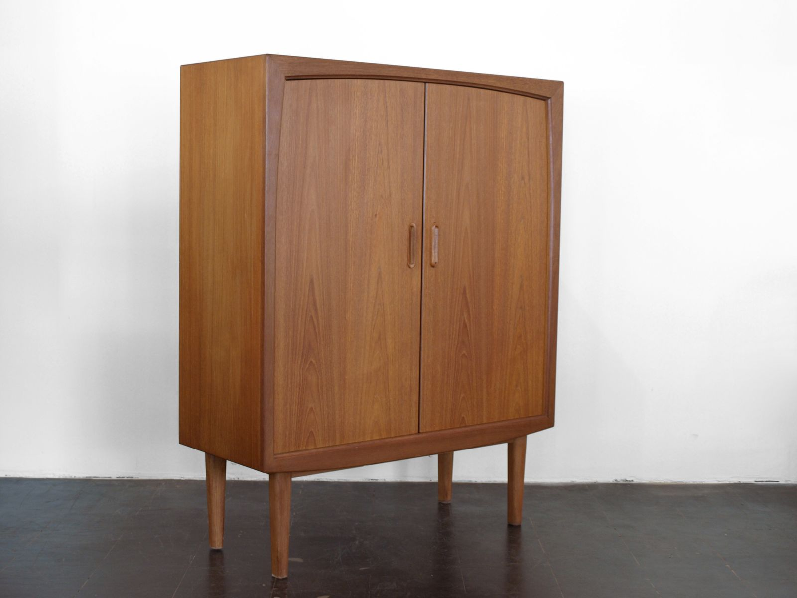 mid century german teak cupboard from bartels m bel 1960s. Black Bedroom Furniture Sets. Home Design Ideas
