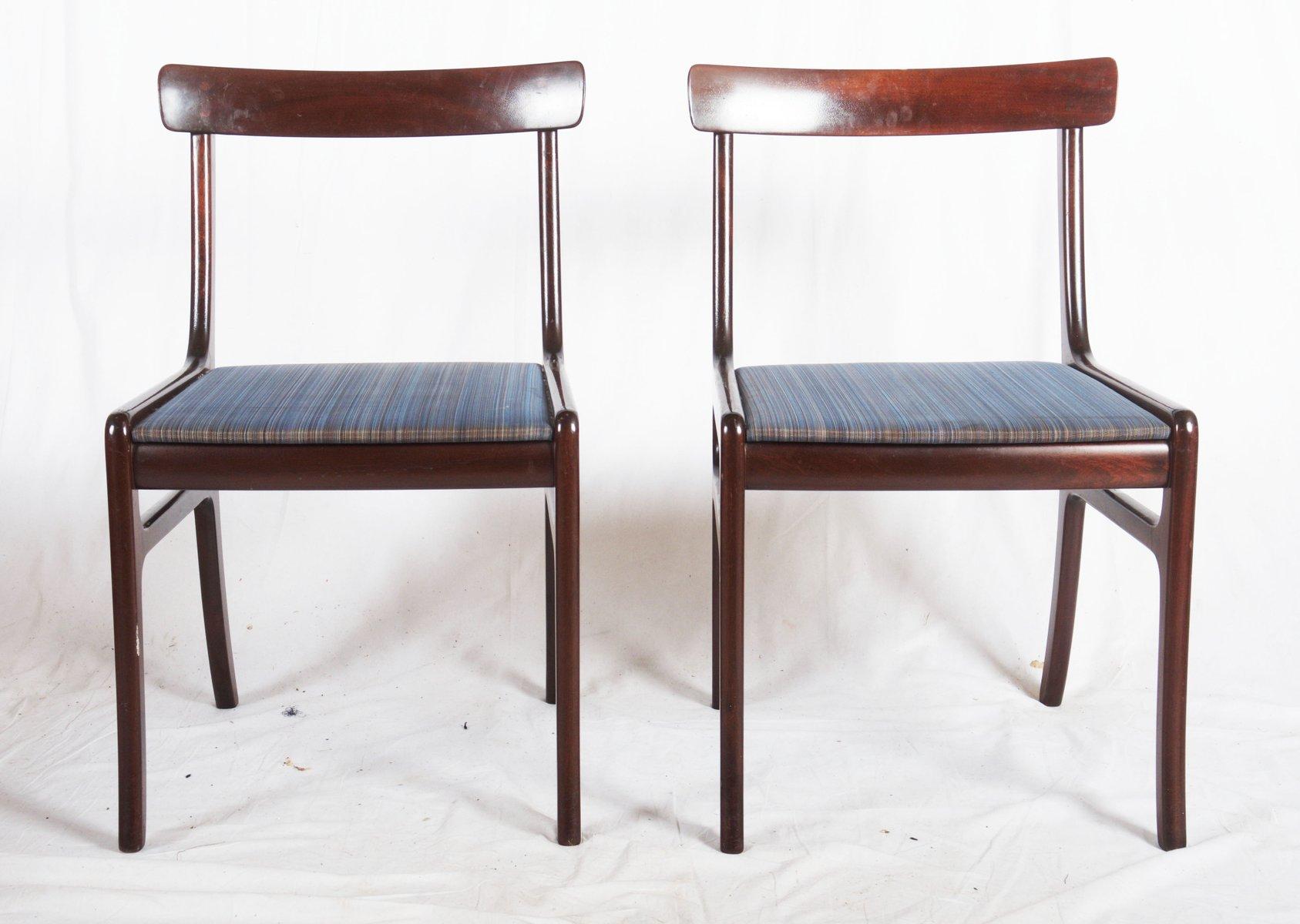 rungstedlund esstisch mit acht st hlen von ole wanscher f r poul jeppesen bei pamono kaufen. Black Bedroom Furniture Sets. Home Design Ideas