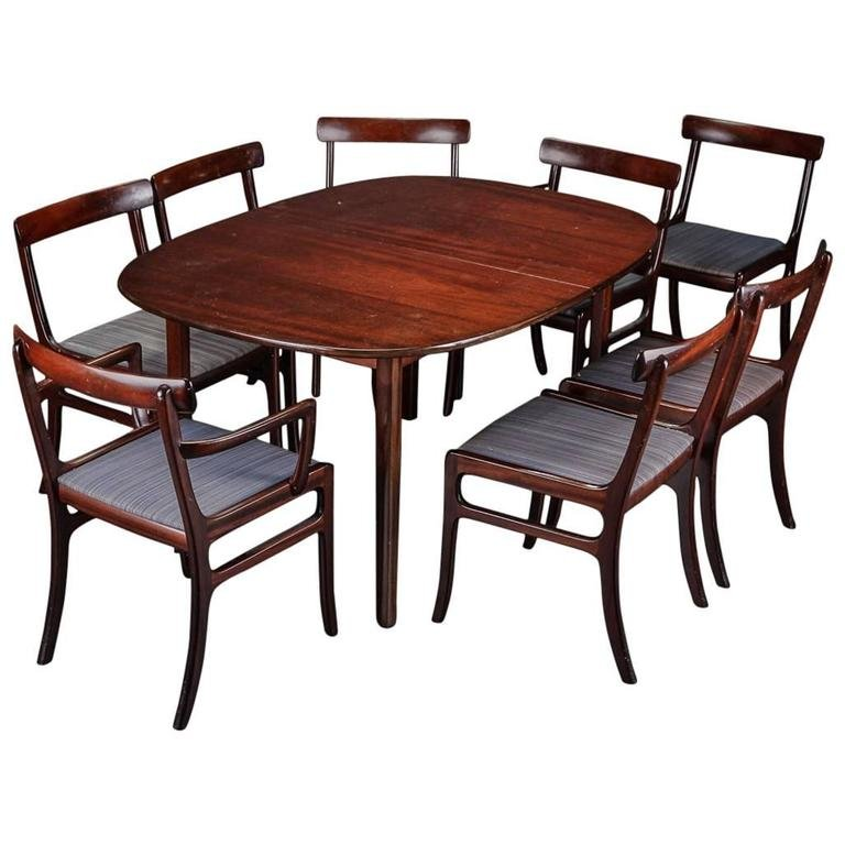 rungstedlund dining table and eight chairs by ole wanscher