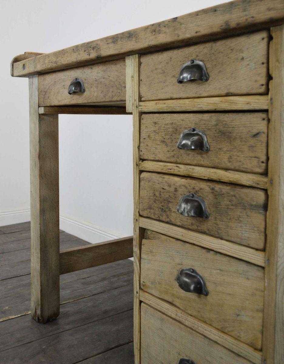 franz sische werkbank aus buchenholz tannenholz bei pamono kaufen. Black Bedroom Furniture Sets. Home Design Ideas