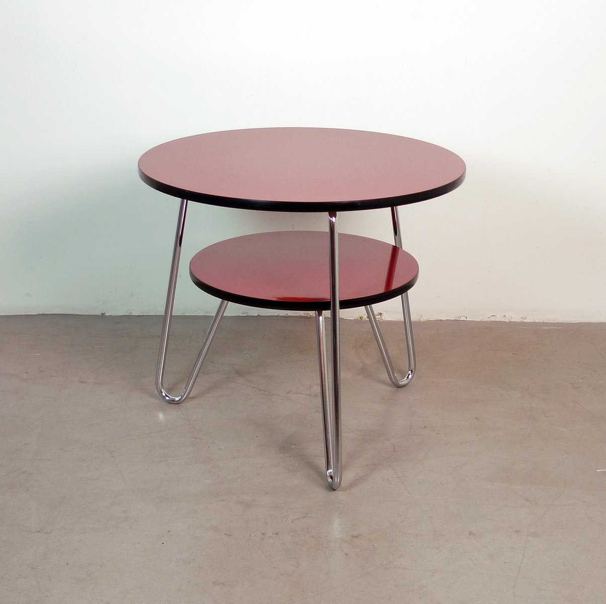German Round Double Tiered Coffee Table 1950s For Sale At Pamono