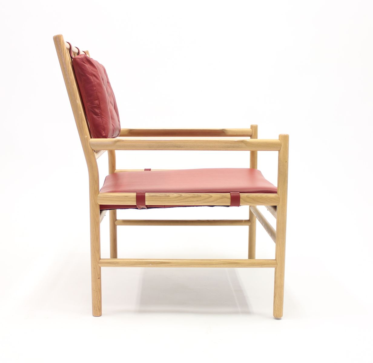Scandinavian safari style peter easy chair in oak leather by arne norell 1970s for sale at pamono - Scandinavian chair ...