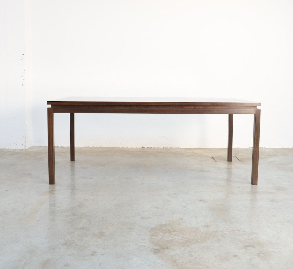 minimal dining table by alfred hendrickx for belform for. Black Bedroom Furniture Sets. Home Design Ideas