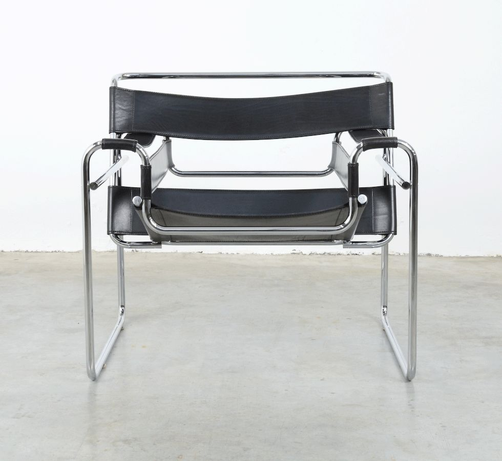 wassily chair by marcel breuer for fasem 1983 for sale at pamono. Black Bedroom Furniture Sets. Home Design Ideas
