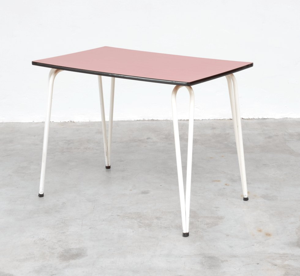 vintage red formica dining table for sale at pamono. Black Bedroom Furniture Sets. Home Design Ideas