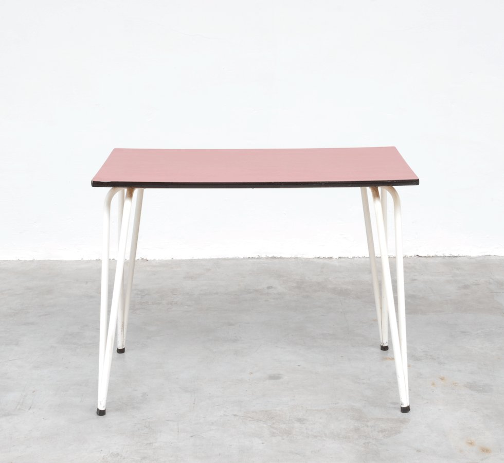 Vintage red formica dining table for sale at pamono for Formica table