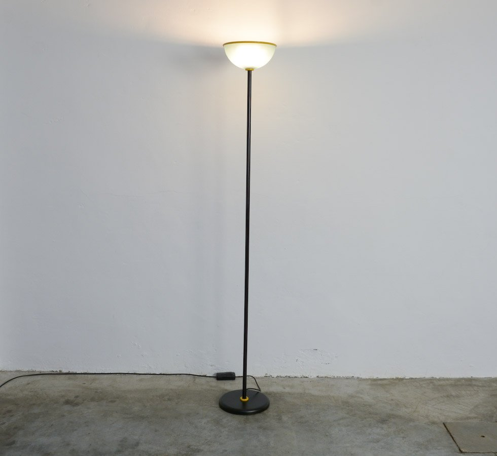 Italian Metal Uplight Floor Lamp for sale at Pamono