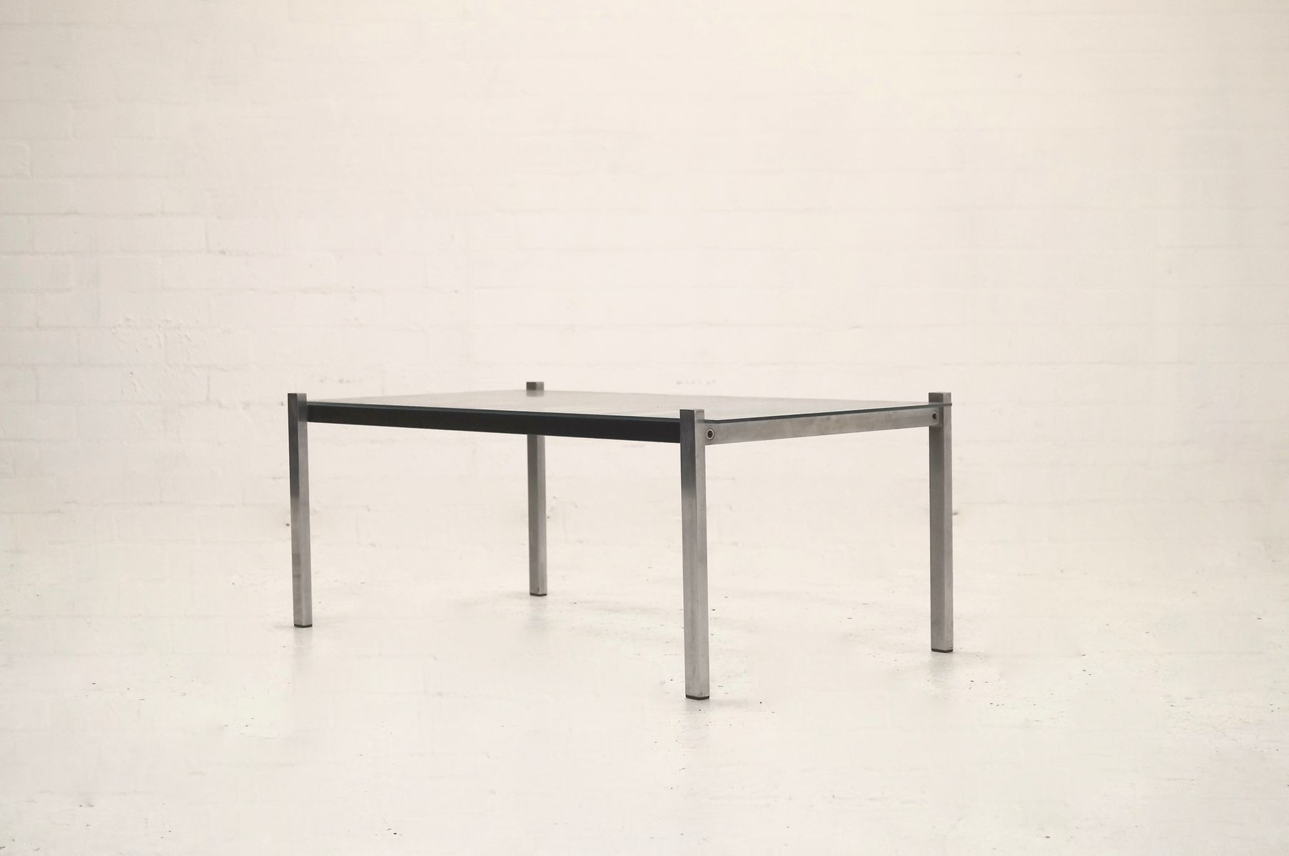 Mid Century Modern Metal and Glass Coffee Table 1960s for sale at