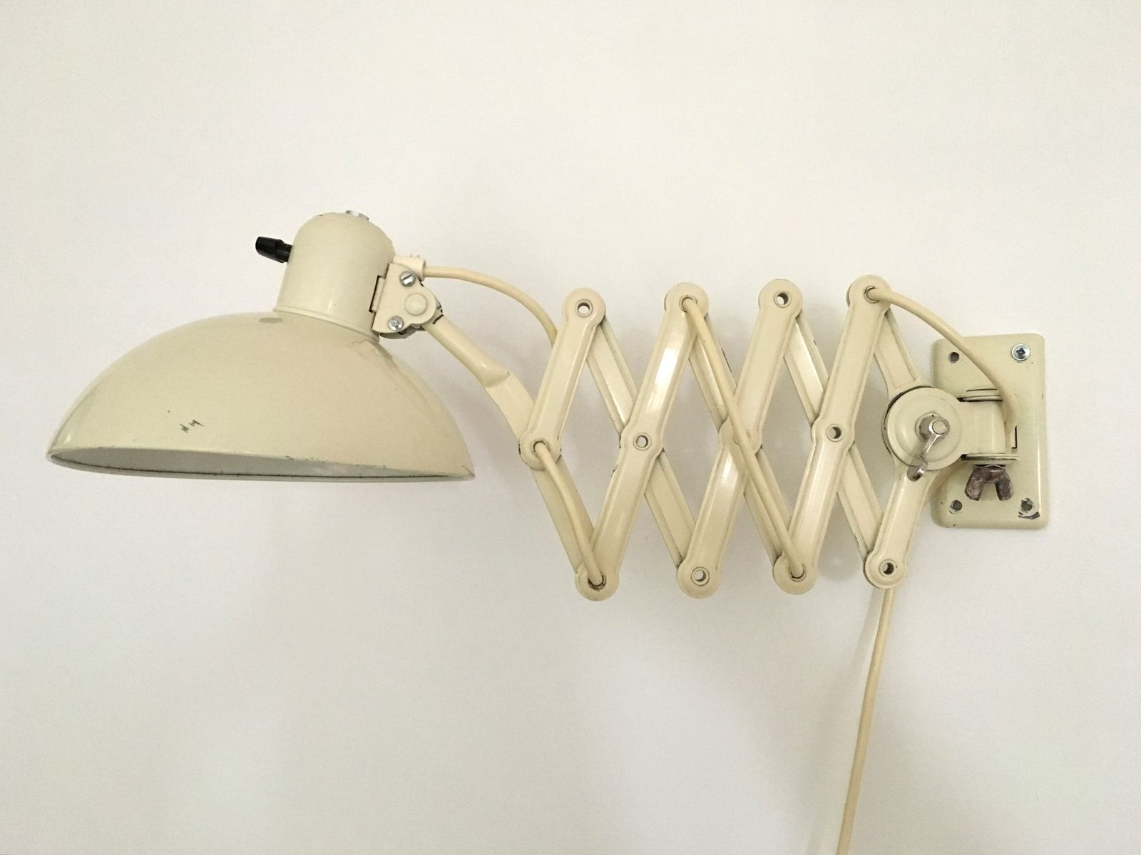 German Bauhaus 6718 Super Scissor Arm Wall Mounted Lamp by Christian Dell for Kaiser Idell ...