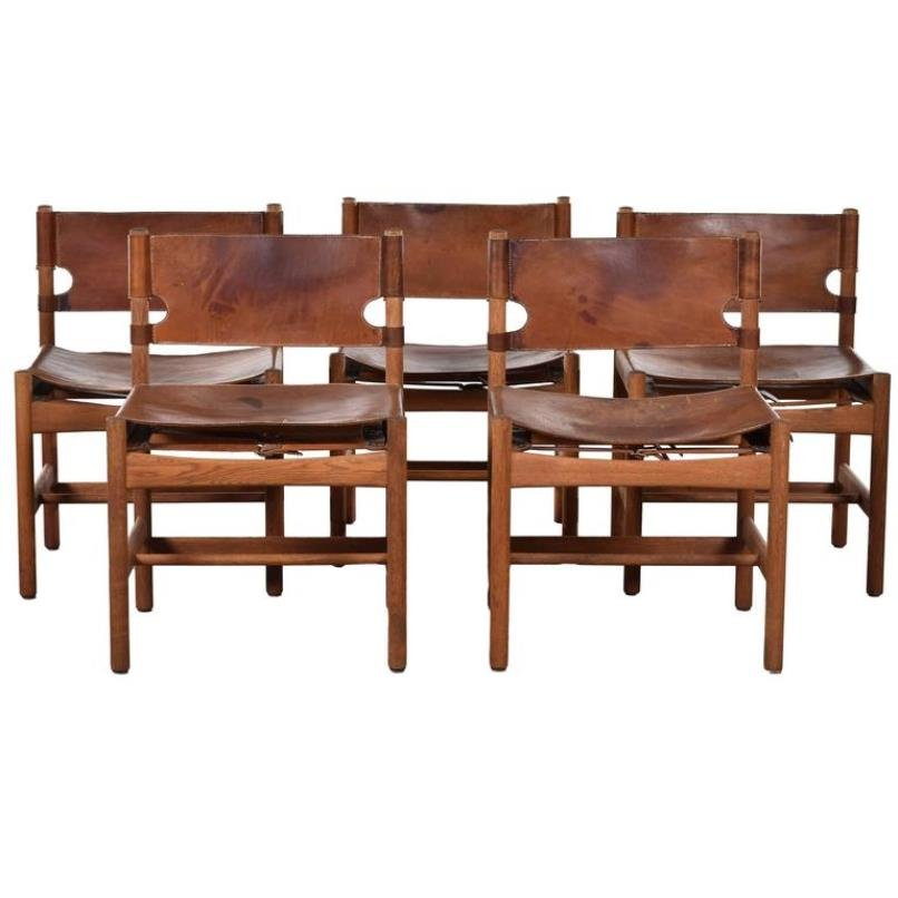 Danish Model 3251 Hunting Chairs By B Rge Mogensen For