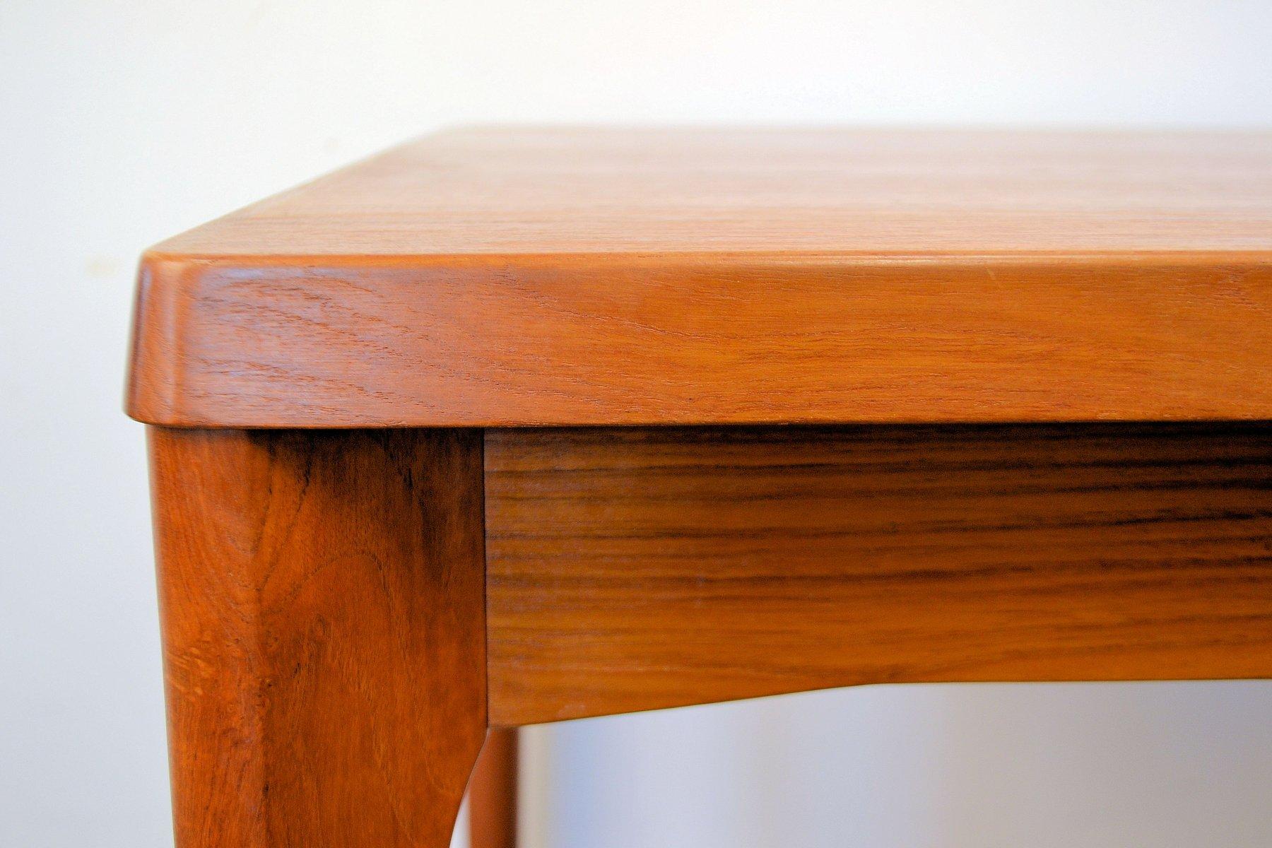 Danish Teak Extendable Dining Table by Henning Kjaernulf  : danish teak extendable dining table by henning kjaernulf for vejle stole mobelfabrik 1960s 4 from www.pamono.eu size 1800 x 1200 jpeg 144kB