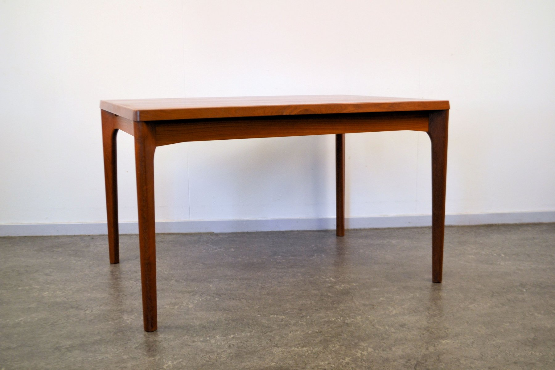 Danish Teak Extendable Dining Table By Henning Kjaernulf For Vejle Stole  Møbelfabrik, 1960s