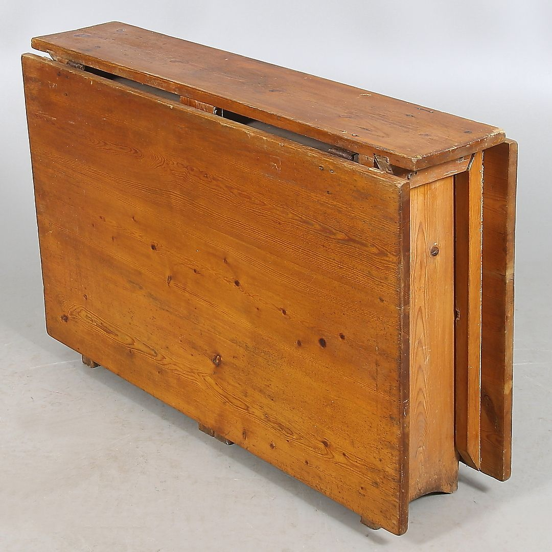 Antique Swedish Wooden Folding Table For Sale At Pamono