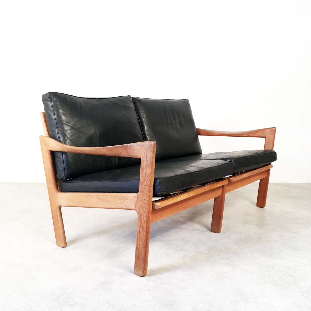 Two Seater Sofa By Illum Wikkels For Niels Eilersen For