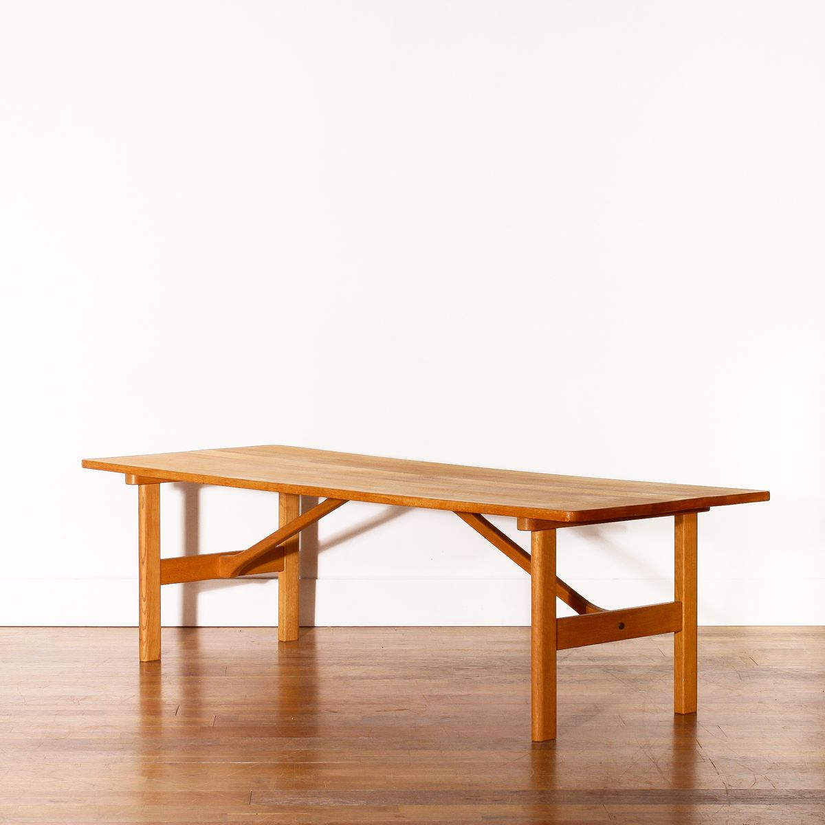 Large Swedish Oak Coffee Table By B Rge Mogensen For Fredericia 1950s For Sale At Pamono