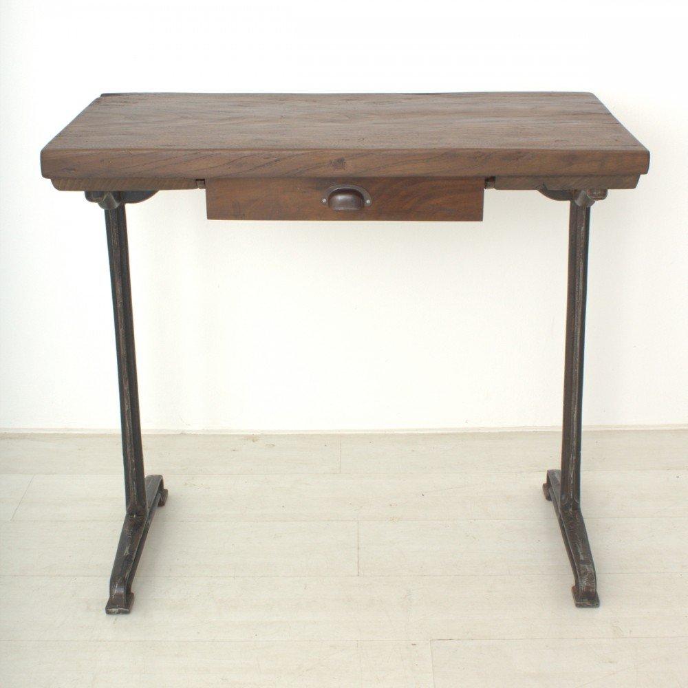 Hoher vintage schreibtisch aus nussholz 1920er bei pamono for Schreibtisch 2 meter lang