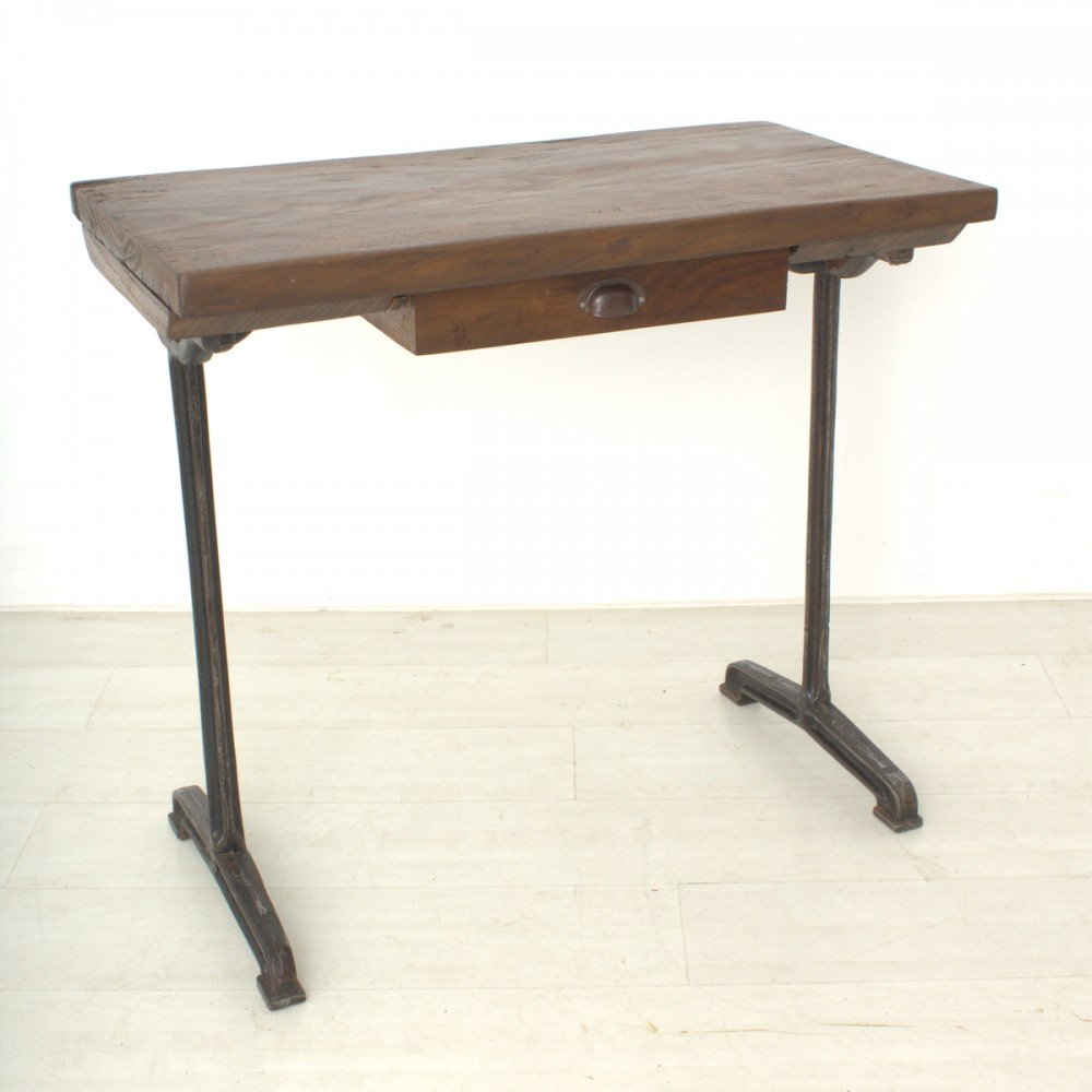 Vintage Tall Walnut Writing Table, 1920s For Sale At Pamono