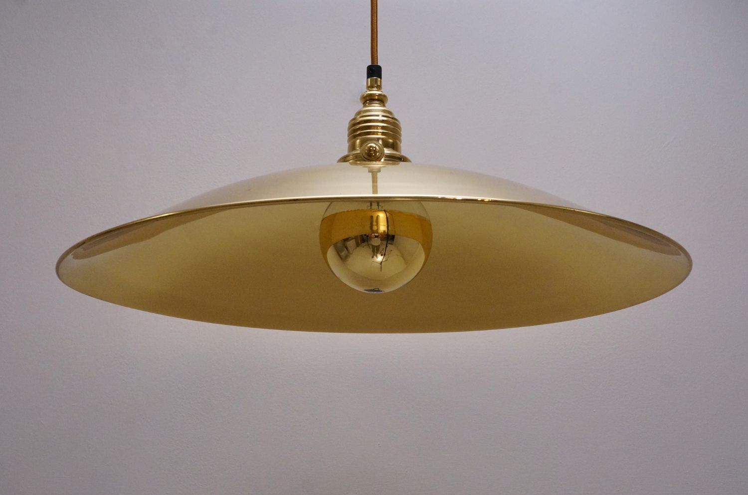Vintage German Brass Pendant Light 1970s For Sale At Pamono