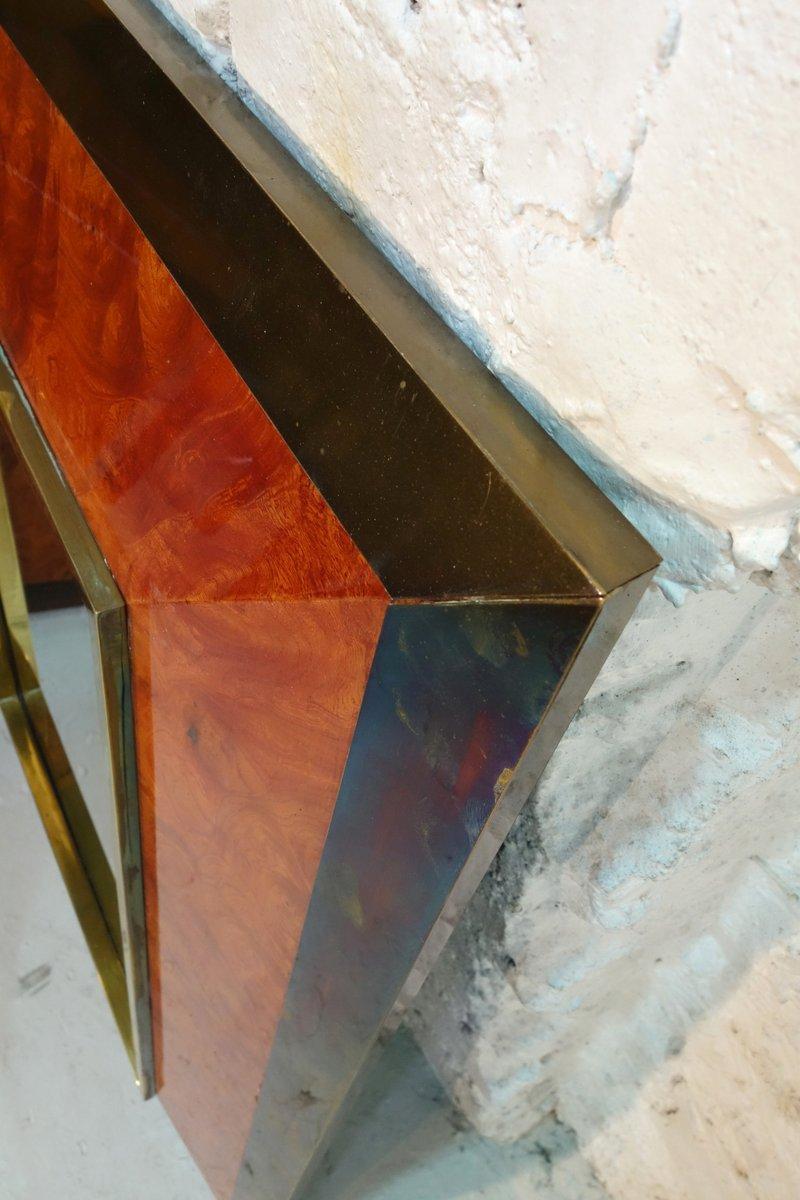 spiegel mit rahmen aus esche wurzelholz von jean claude mahey 1980 bei pamono kaufen. Black Bedroom Furniture Sets. Home Design Ideas