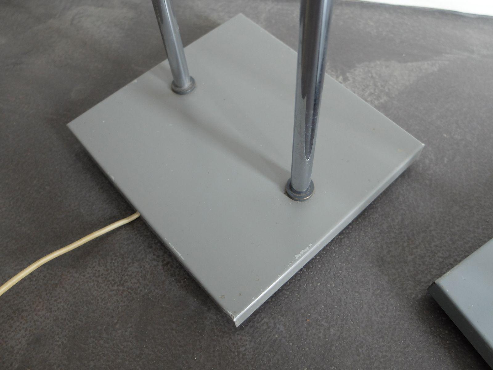 minimalistische trombone stehlampen von jo hammerborg f r fog m rup 1960er 2er set bei. Black Bedroom Furniture Sets. Home Design Ideas