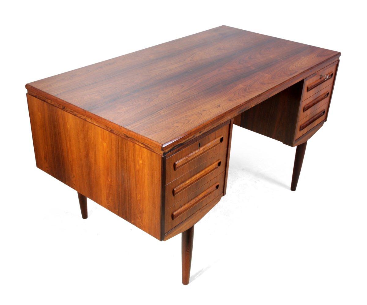 mid century palisander schreibtisch von j svenstrup. Black Bedroom Furniture Sets. Home Design Ideas