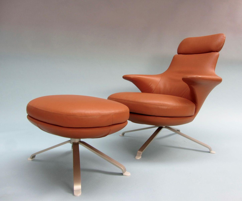 Radar Lounge Chair Ottoman By James Irvine For B B