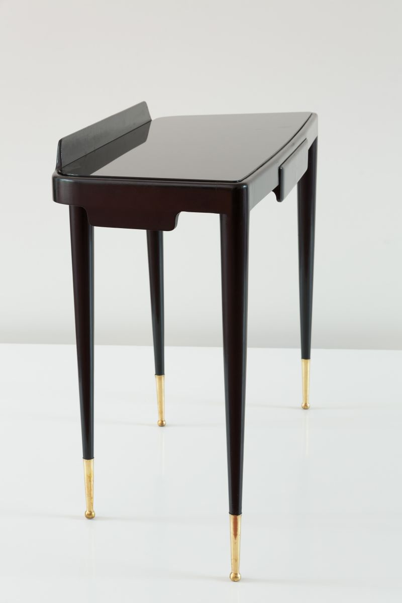 console noire laqu e par paolo buffa 1950 en vente sur pamono. Black Bedroom Furniture Sets. Home Design Ideas