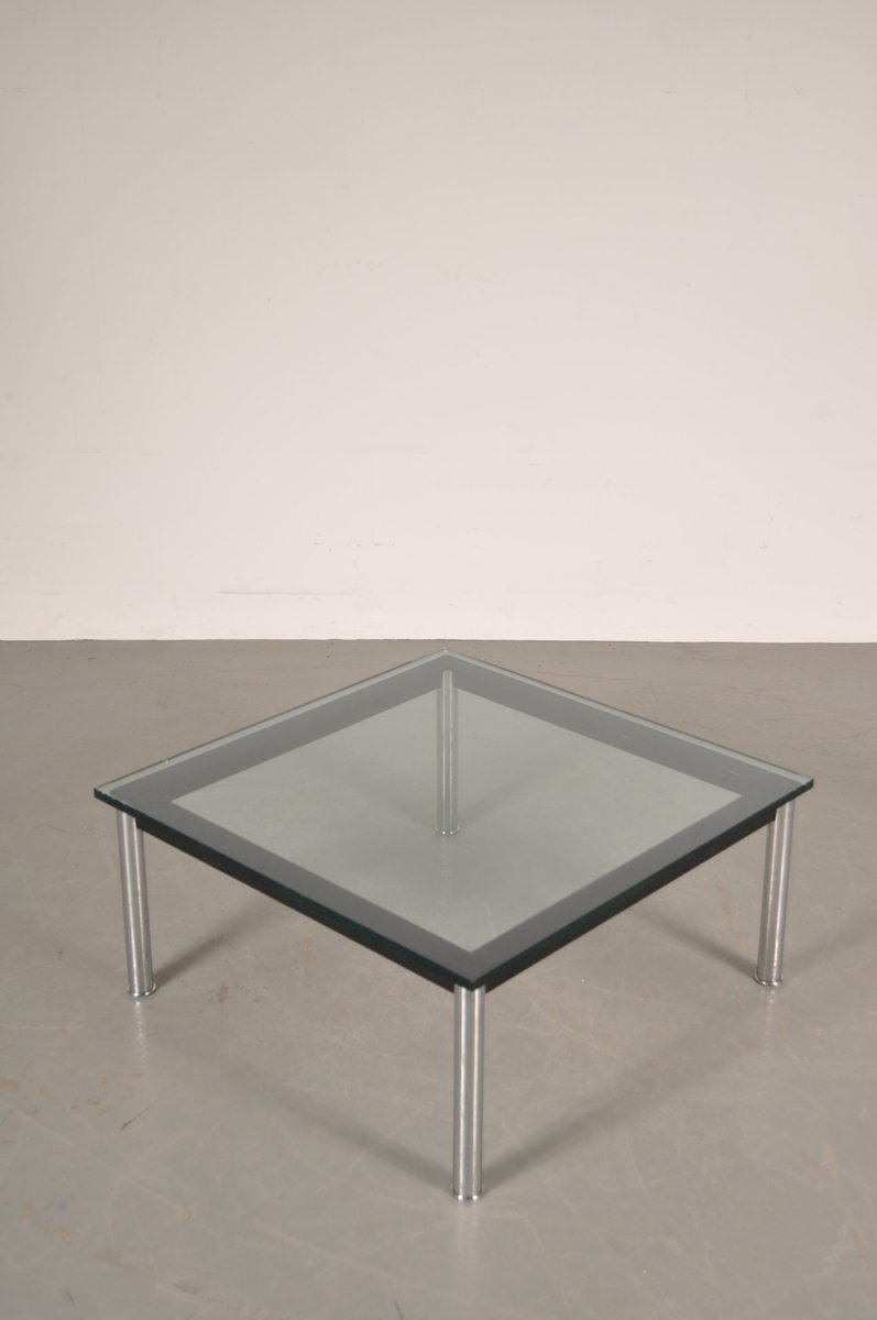 Italian Metal amp Glass Coffee Table By Le Corbusier For