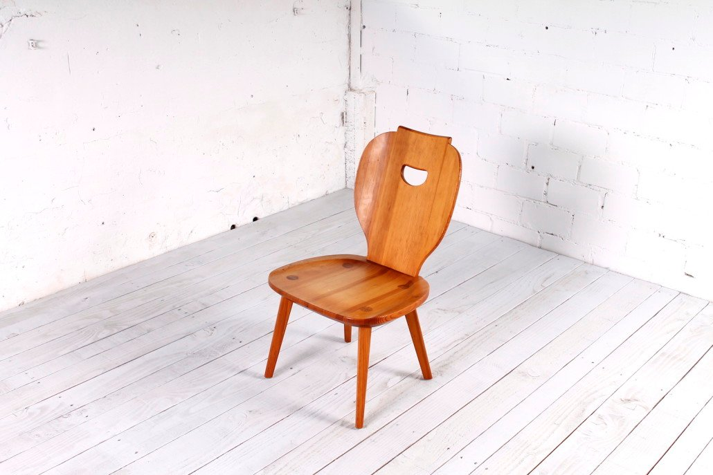 Schwedischer kiefernholz stuhl von carl malmsten f r svensk fur 1950er bei pamono kaufen - Kunstfell fur stuhl ...