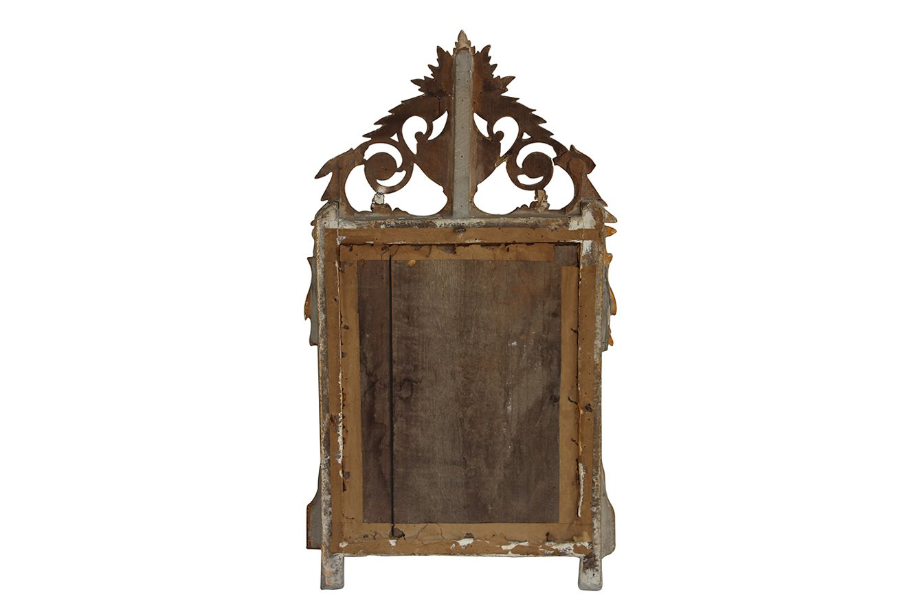 Antique french gilt wood mirror for sale at pamono for Antique french mirror