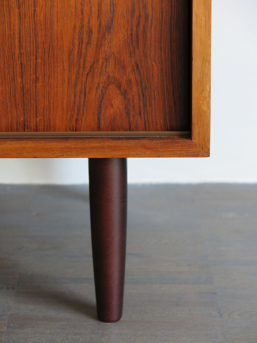 Danish rosewood sideboard with sliding doors for sale at for Sliding doors for sale