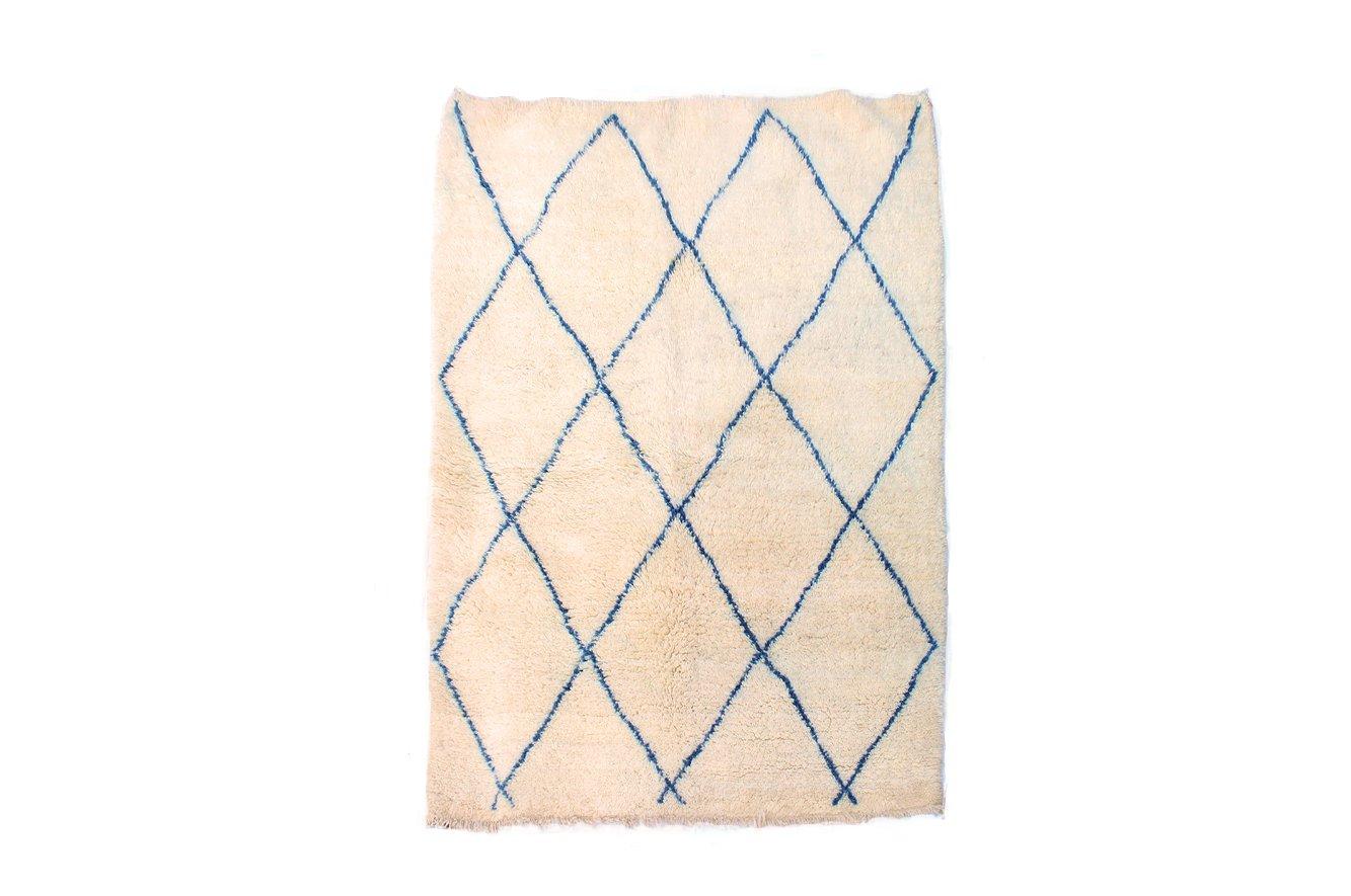 marokkanischer handgewebter beni ouarain woll teppich mit rautenmuster bei pamono kaufen. Black Bedroom Furniture Sets. Home Design Ideas