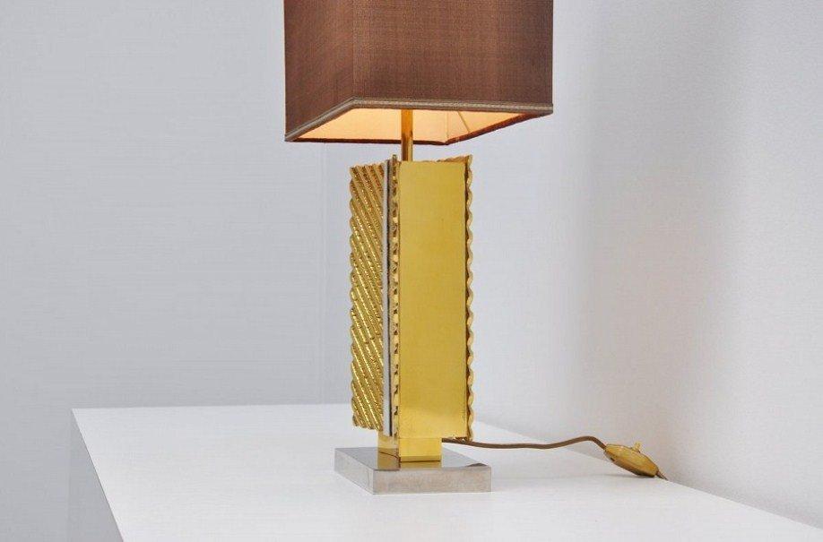lampe de bureau en laiton de maison bagues france 1970s en vente sur pamono. Black Bedroom Furniture Sets. Home Design Ideas
