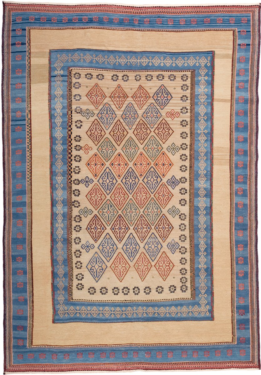 Embroidered persian kilim rug for sale at pamono for Kilim designs