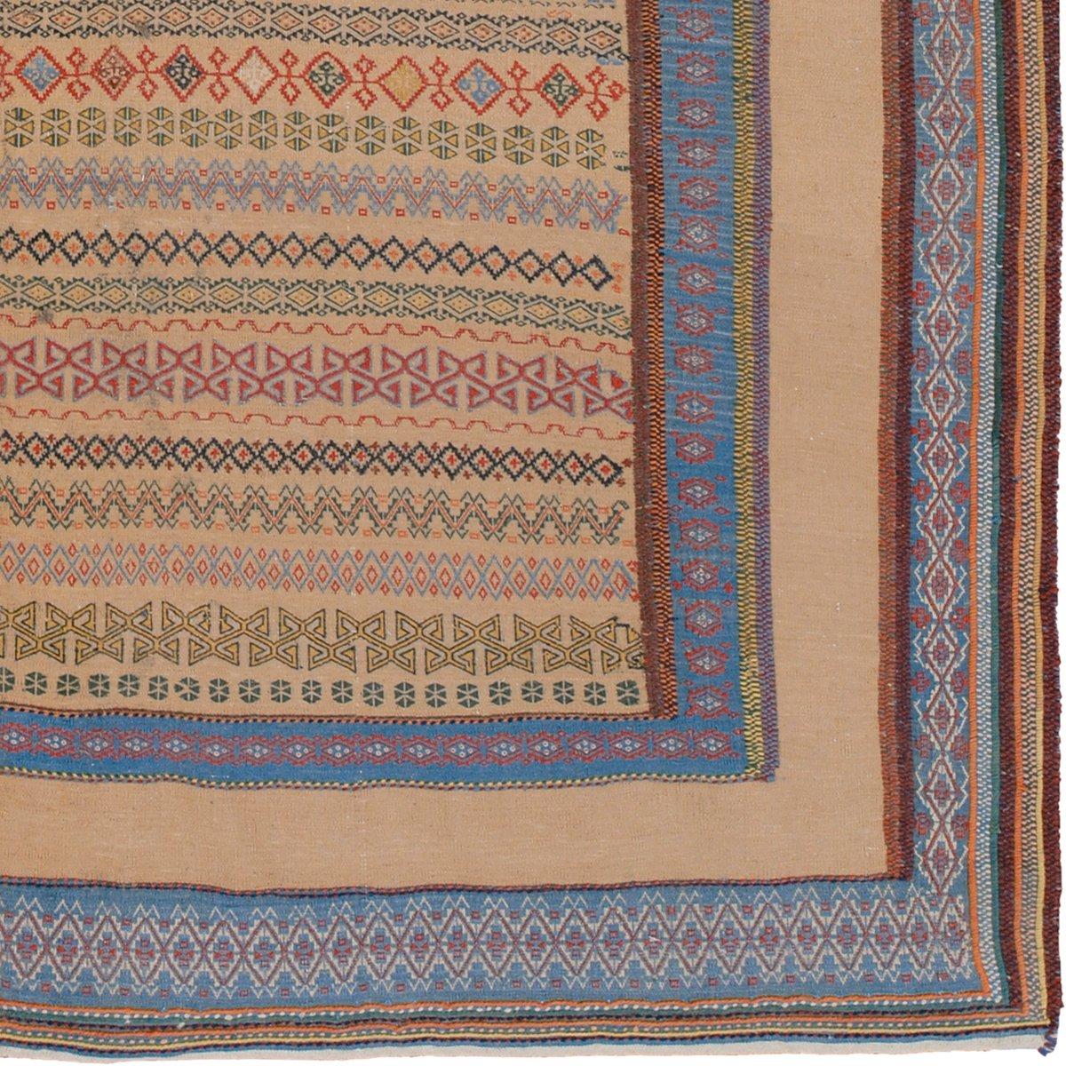 mehrfarbiger bestickter persischer kilim teppich bei pamono kaufen. Black Bedroom Furniture Sets. Home Design Ideas