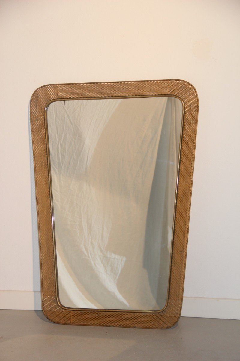 French mirror with openwork metal frame 1950 for sale at for Metal frame mirror