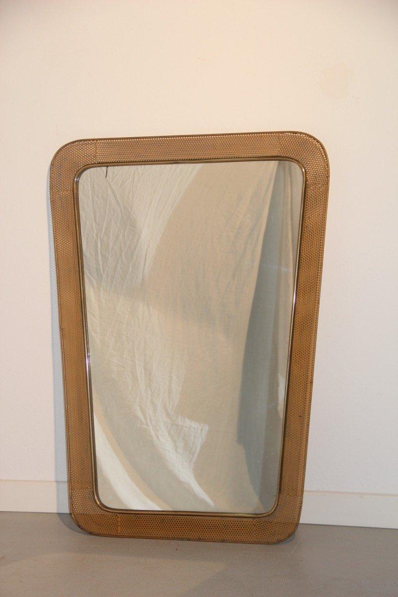 Miroir avec cadre en bois perfor france 1950 en vente for Miroir avec cadre miroir