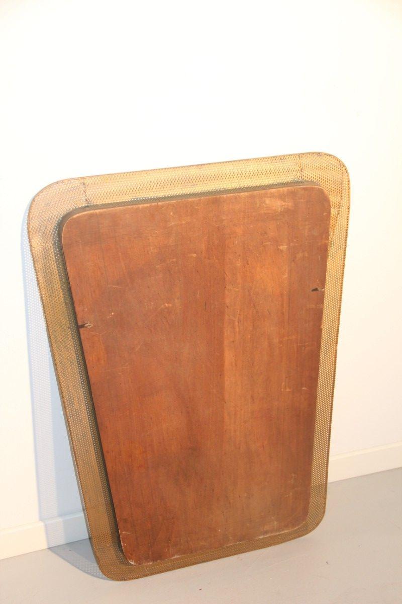 Miroir avec cadre en bois perfor france 1950 en vente for Miroir avec cadre en bois