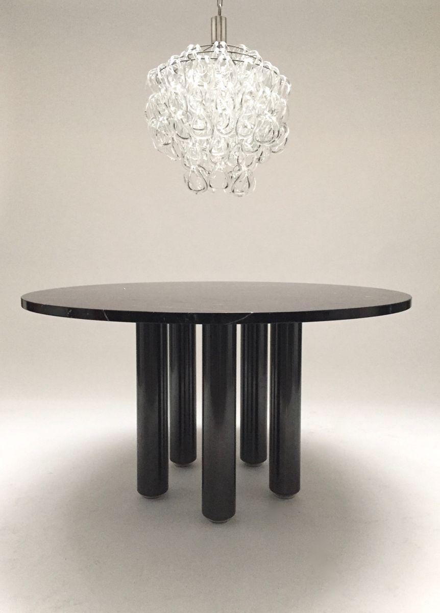 Esstisch aus schwarzem marmor von marco zanuso f r zanotta for Esstisch aus marmor