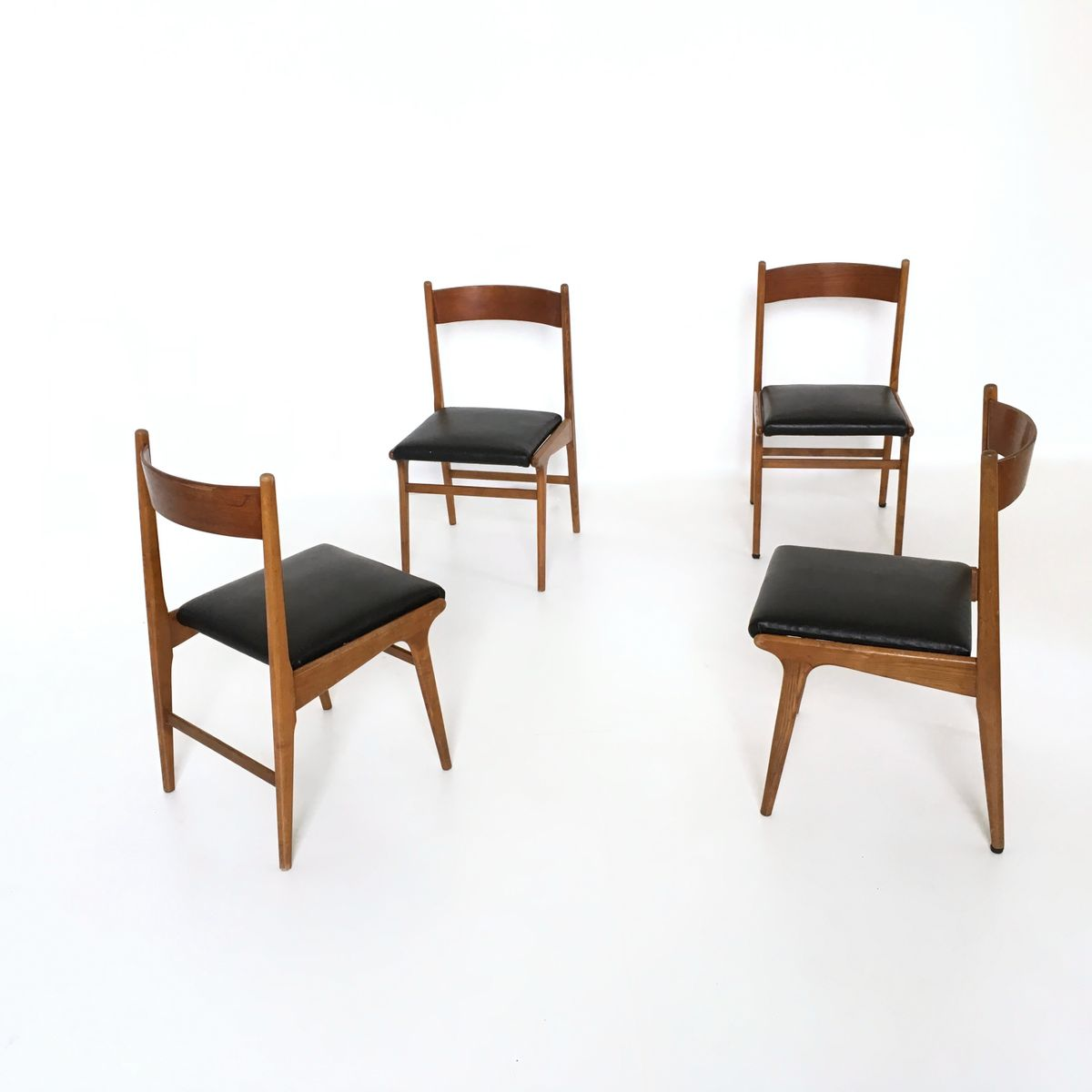 Set Of 4 Dining Chairs ~ Vintage walnut dining chairs s set of for sale at