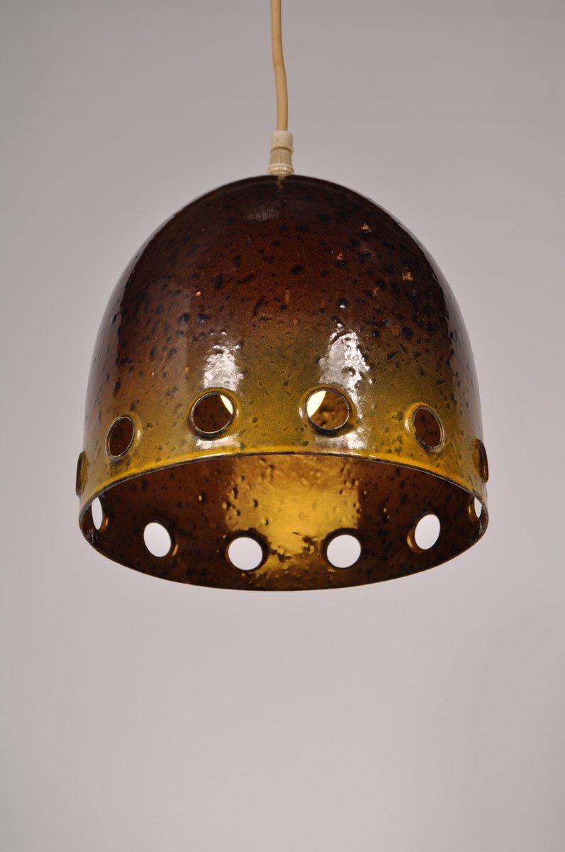 scandinavian enameled metal pendant l 1960s for sale
