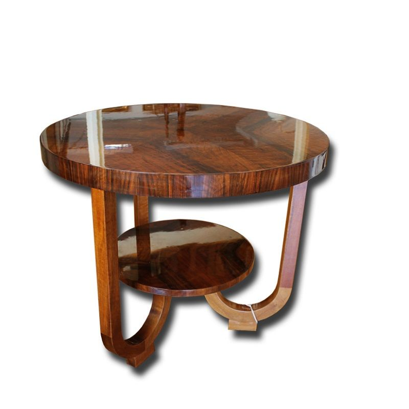 Czech Walnut Veneer Coffee Table 1930s For Sale At Pamono