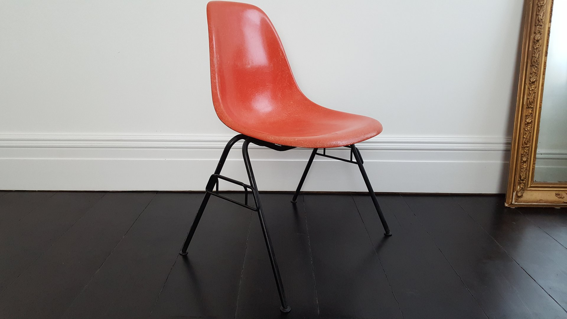 Orange DSS Fiberglass Stacking Chair By Charles U0026 Ray Eames For Herman  Miller, 1960s